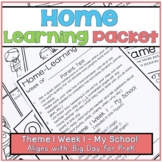 Home-Learning Packet(Scholastic Big Day for Pre-K) Theme 1 Week 1