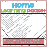 Home-Learning Packet(Scholastic Big Day for Pre-K) Theme 1 Week 3