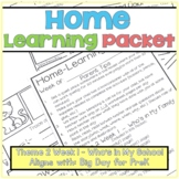Home-Learning Packet(Pairs with Big Day for Pre-K)Theme 2 Week 1