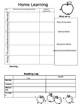 Home Learning Packet Template