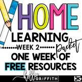 Home Learning Packet Week 2 | Distance Learning FREEBIE