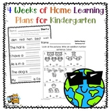 Distance Learing: Home Learning Packet for Kindergarten: 4