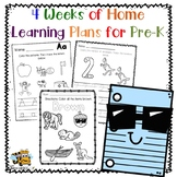 Distance Learning: Home Learning Packet for Pre-K: 4 weeks