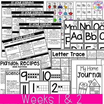 Distant Learning Home Learning Packet for Preschool and Pre-K - Week 1 & 2