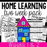 Distance Learning Home Learning Packet for Preschool and P