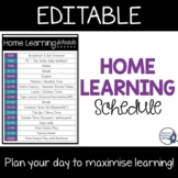 Home Learning Schdule/TimeTable