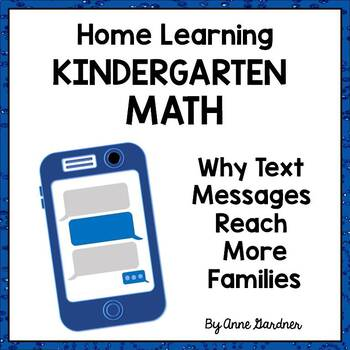Home Learning: Simple Text Messages for Kindergarten Math