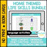 Home Life Skills Bundle BOOM Cards™️ Speech Therapy Distan