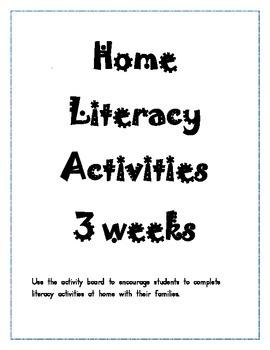 Home Literacy Activities