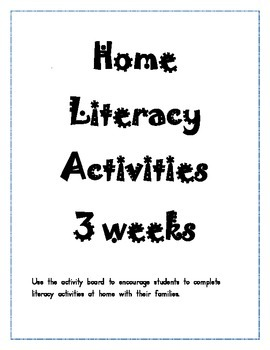 Home Literacy Activities