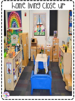 Home Living Dramatic Play Center For Preschool Pre K And Kindergarten