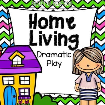 Home Living Dramatic Play Center for Preschool, Pre-K, and Kindergarten