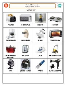 Home Maintenance: Small Appliance Vocabulary