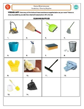 Home Maintenance Vocabulary: Cleaning Supplies