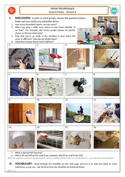 Home Maintenance _Student Packet-Module B