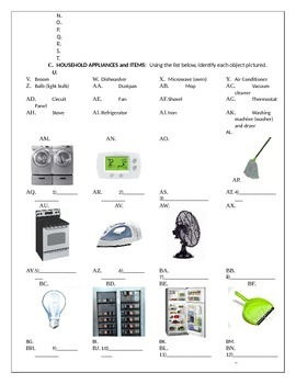 Home Maintenance: vocabulary (homes, rooms, appliances and chores)
