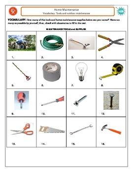 Home MaintenanceVocabulary: Tools
