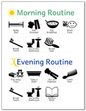 Home Morning and Evening Routine Chart Autism