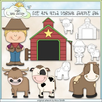 Home On The Range 1 - Commercial Use Clip Art & Black & Wh
