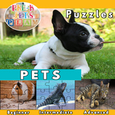 Home Pets: Picture Puzzles Printables |  Fine Motor Skills