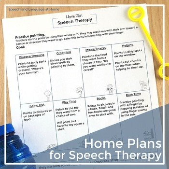 Home Plans for Speech Therapy Early Intervention