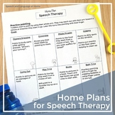 Early Intervention Handouts: Home Plans for Speech Therapy