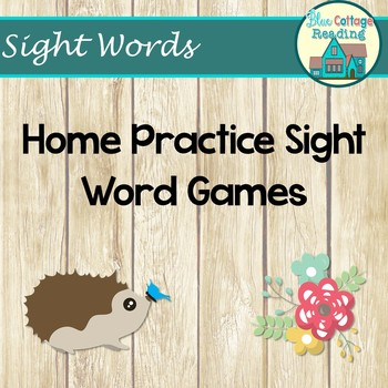 Home Practice Sight Word Games