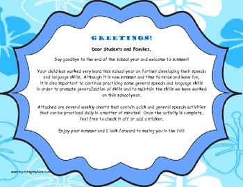 Home Program Letter- Articulation