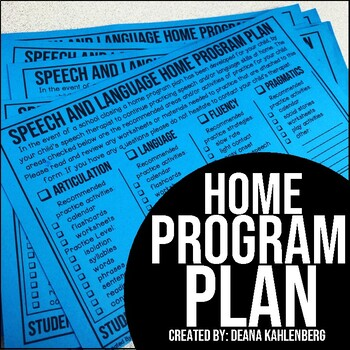 Home Program Plan