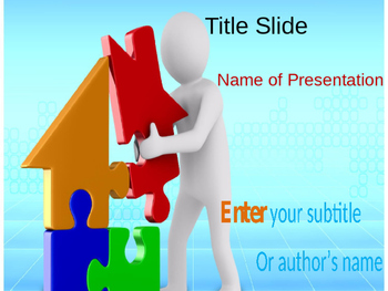 Home Puzzle PPT Template