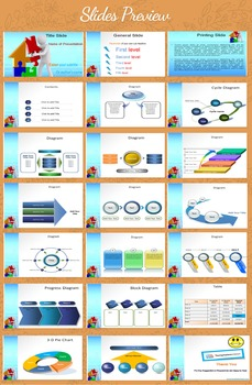 Home Puzzle PowerPoint Template