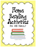 Home Reading Activities for the Family