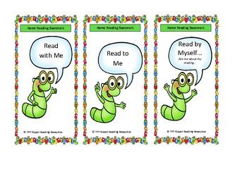 Caterpillar Home Reading Bookmarks