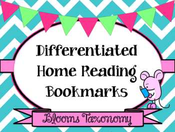 Home Reading Bookmarks