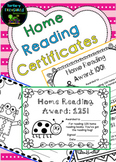 Home Reading Certificates