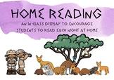 Home Reading Classroom Display and Take Home Folder - Australian animal theme