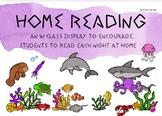 Home Reading Classroom Display and Take Home Folder - Ocean animal theme