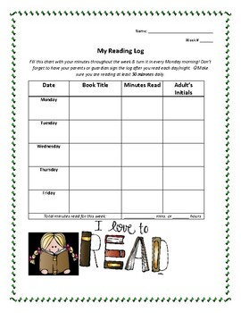 Home Reading/Comprehension Log
