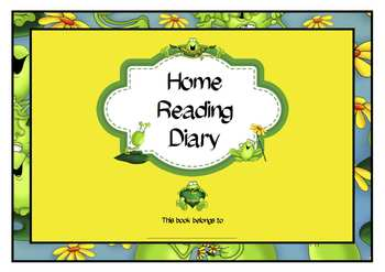 Home Reading Diary Freebie
