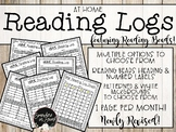 Home Reading Log Bundle featuring Reading Beads!