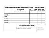 Home Reading Log - Grades 3-5