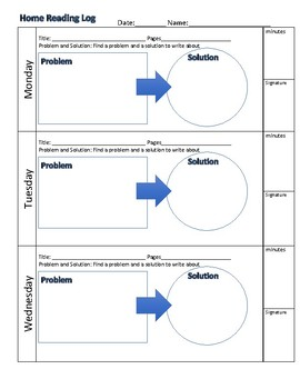 Home Reading Log: Problem Solution