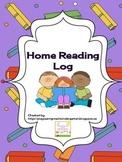 Home Reading Log Recording Sheet