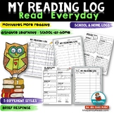Reading Log | [Home or School] | Track Books Read
