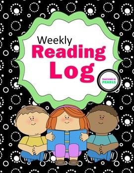 Home Reading Log for Grades 3-5