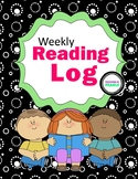 Home Reading Log for Grades 3-5
