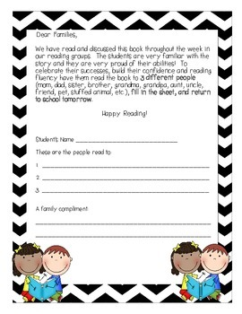 Home Reading Log with Guided Reading Books