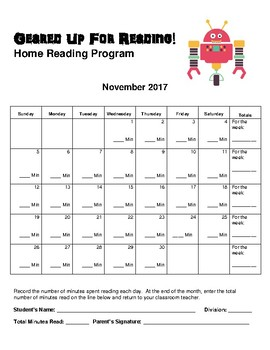 Home Reading Program 2017-2018: Geared Up For Reading! *Updated