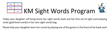 Home Reading and Sight Words Program