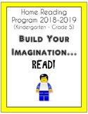 Home Reading Program (K-Gr. 5): Build Your Imagination...Read! (Lego theme)